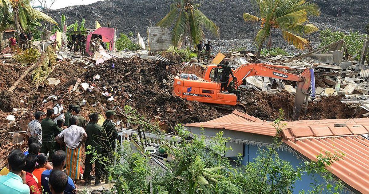 Sri Lanka: 300-foot rubbish dump collapses in Colombo, kills at least 19