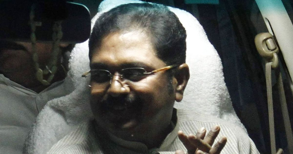 TTV Dinakaran denies trying to bribe EC into getting AIADMK's 'two leaves' symbol