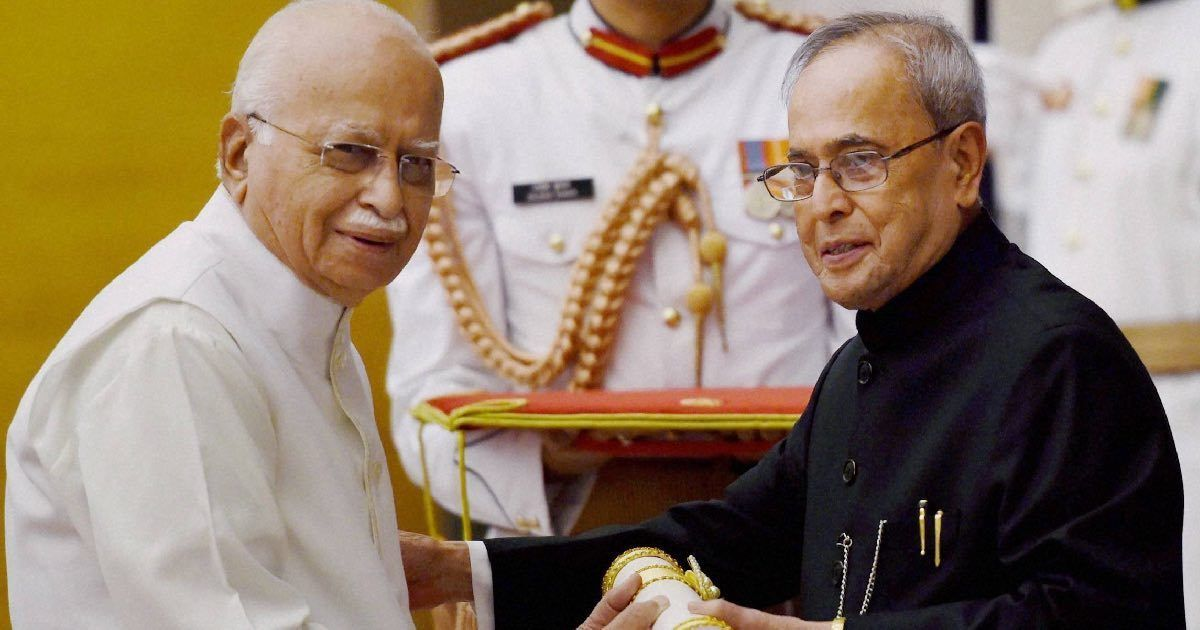 Has LK Advani, the former future prime minister, just become the former future President of India?
