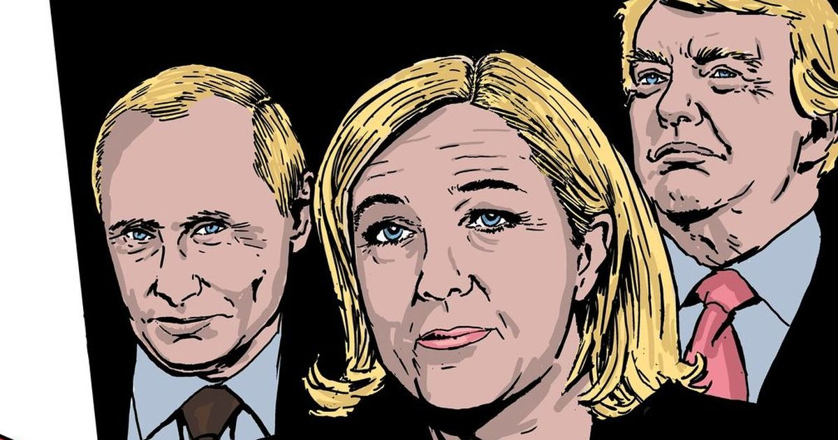 A graphic novel series sees Marine Le Pen lead France after winning the May polls