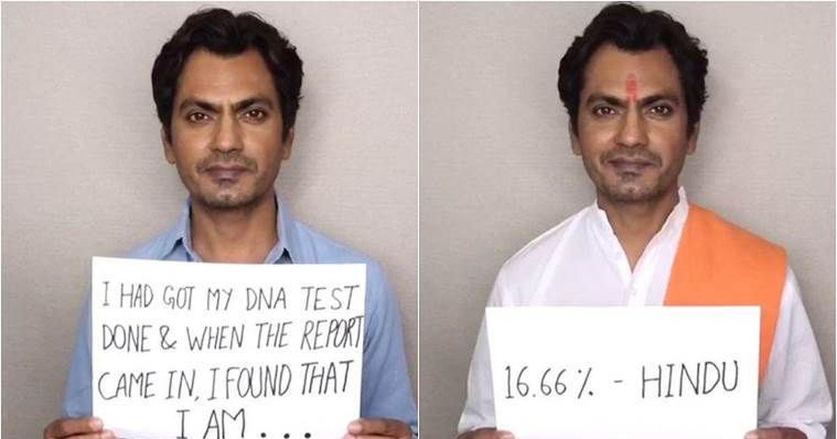 Nawazuddin Siddiqui video: '16.66% all religions, 100% an artist'
