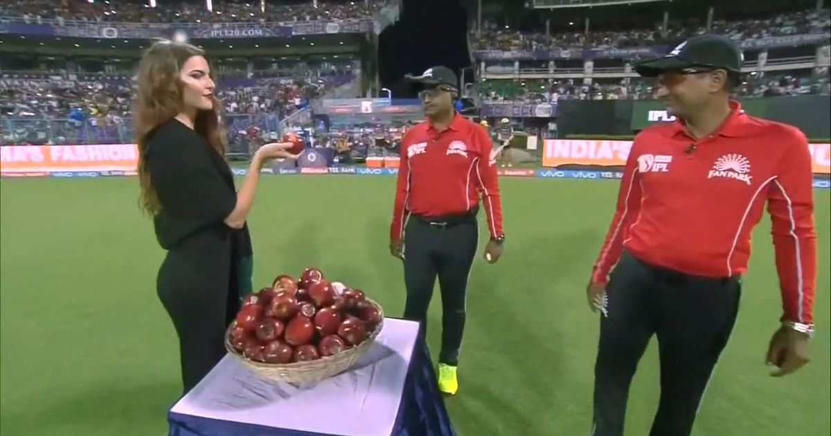 It's all happening in the IPL! Umpires had to choose between apples and the ball at the Eden Gardens