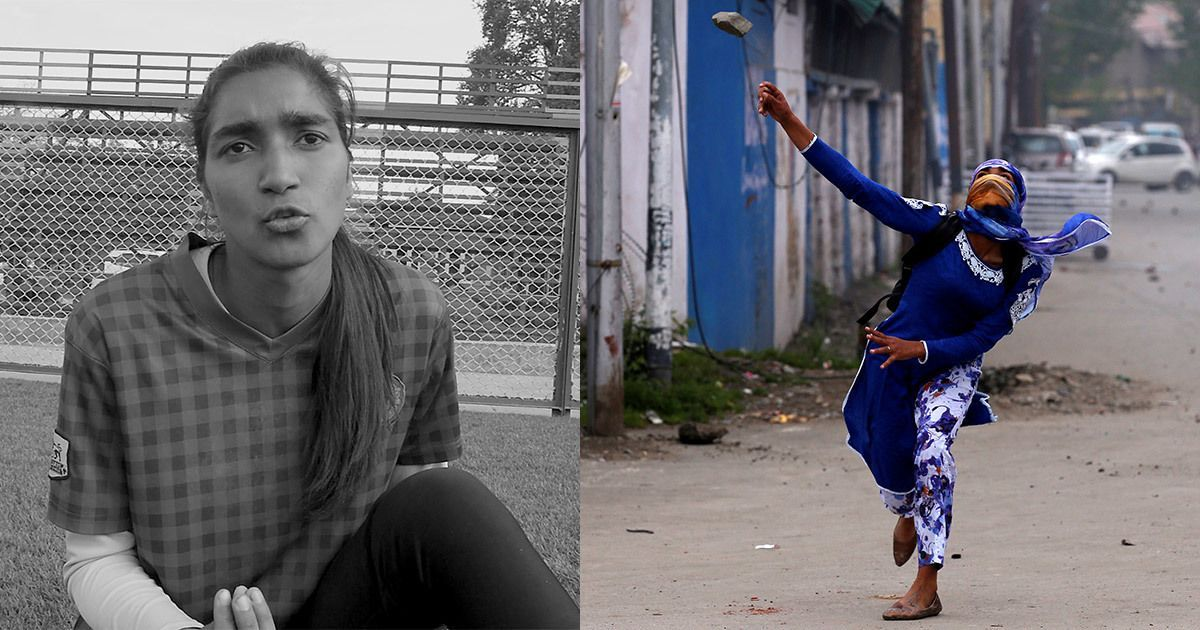 Footballer to stone-pelter: What made Afshan Ashiq, the woman in blue, pick up that rock?