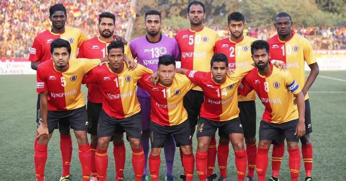 East Bengal's Indian football team players travel in general train compartment