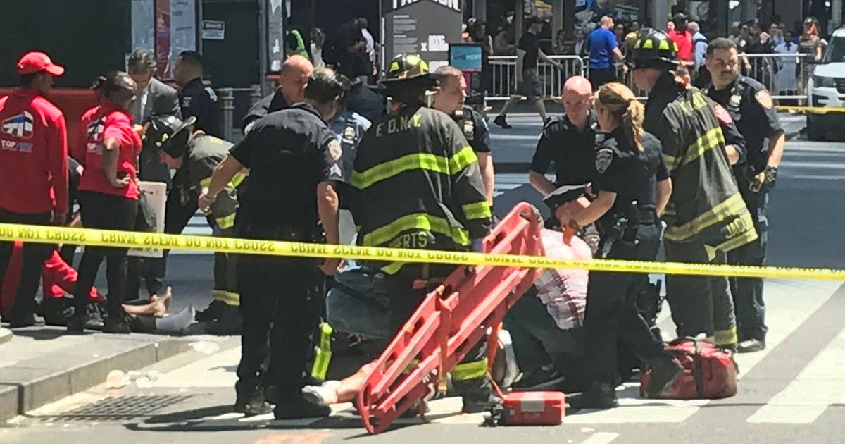 One dead, several injured as speeding car drives into pedestrians at New York's Times Square