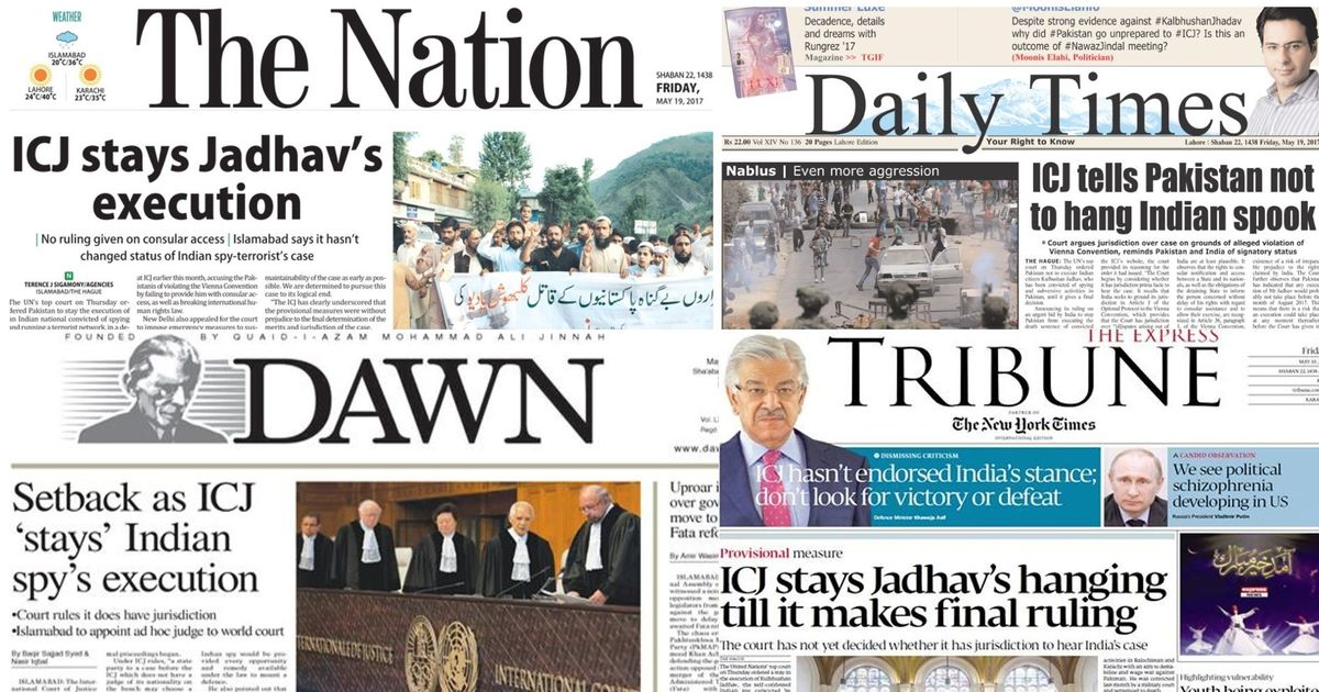 How Pakistan's press reacted to ICJ stay on Jadhav execution: Setback, unprepared, Jindal connect?