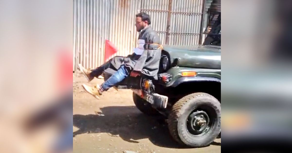 Army honours officer accused of using civilian as human shield in Jammu & Kashmir