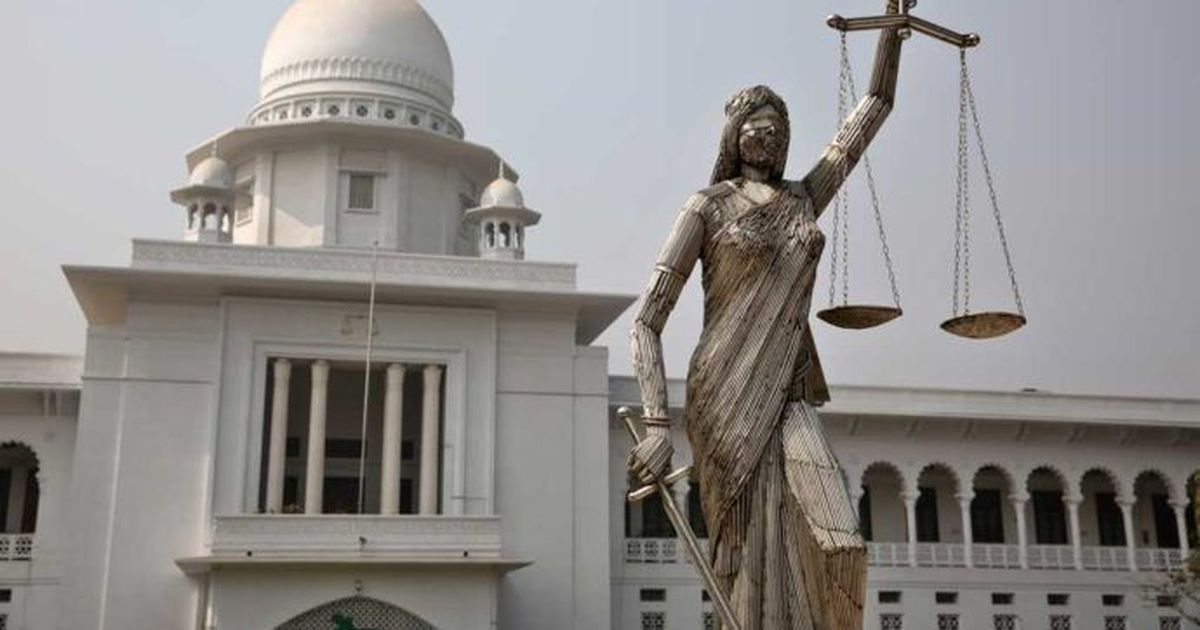 Dhaka: Statue of Lady Justice outside Supreme Court removed after months of protests