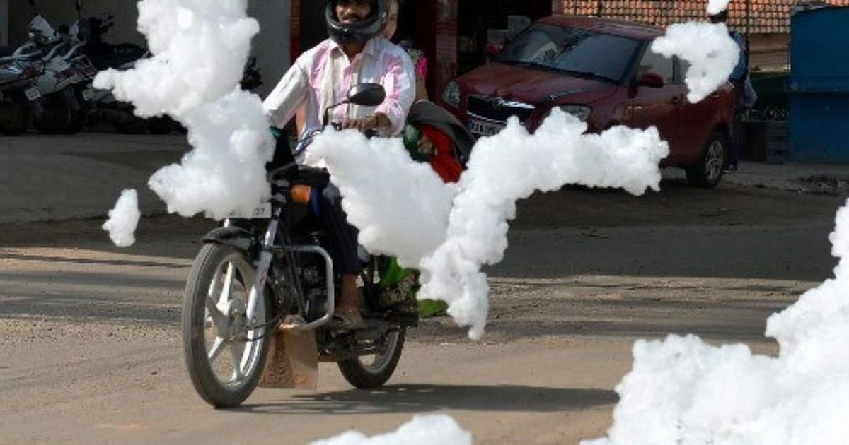 Bengaluru's Varthur Lake is spilling toxic foam on to the streets again