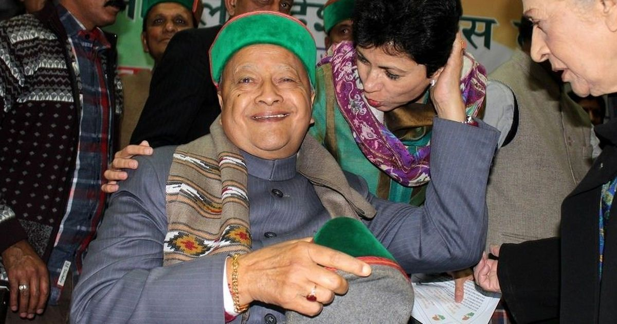Himachal Pradesh Chief Minister Virbhadra Singh and wife granted bail in illegal wealth case