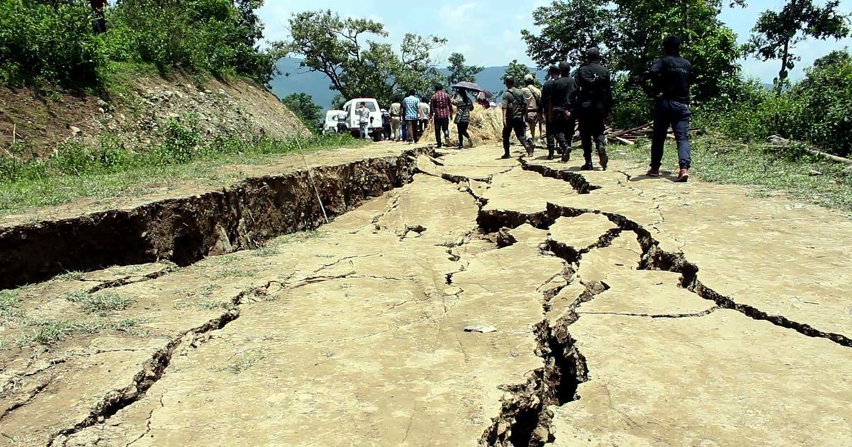 In pictures: A mysterious earth crack appears in Manipur hills, damaging homes, displacing hundreds
