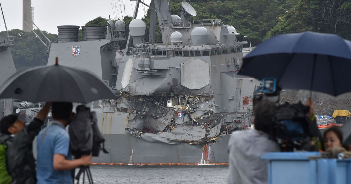 US Navy ship collision: Bodies of seven missing American sailors found in flooded compartments