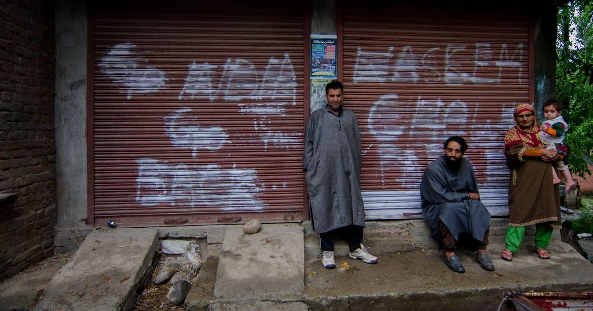 Map of South Kashmir: In Pehlipora, women are now seasoned in protest