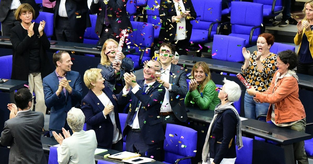 Germany legalises same-sex marriage, Chancellor Angela Merkel votes against the Bill