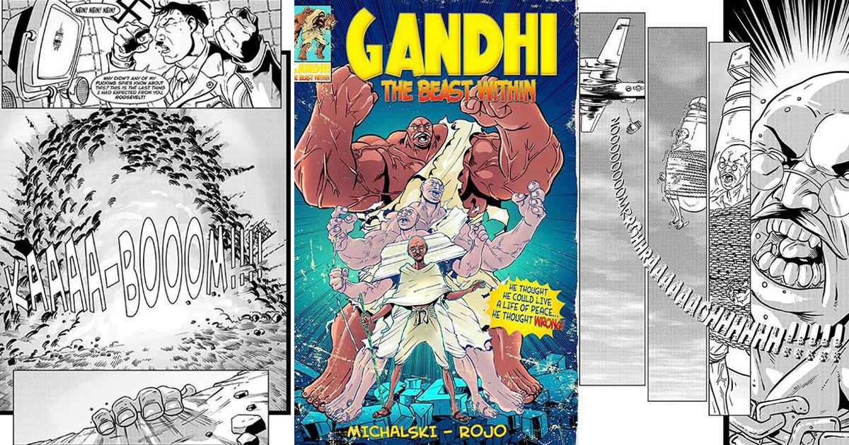 Meet Mahatma Gandhi, the Hulk-like superhero who fought Hitler, robots and dinosaurs