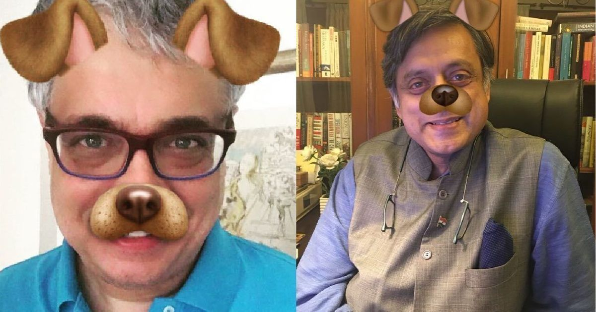 Derek O'Brien, Tharoor post images of themselves with dog filter to criticise FIR against comedians