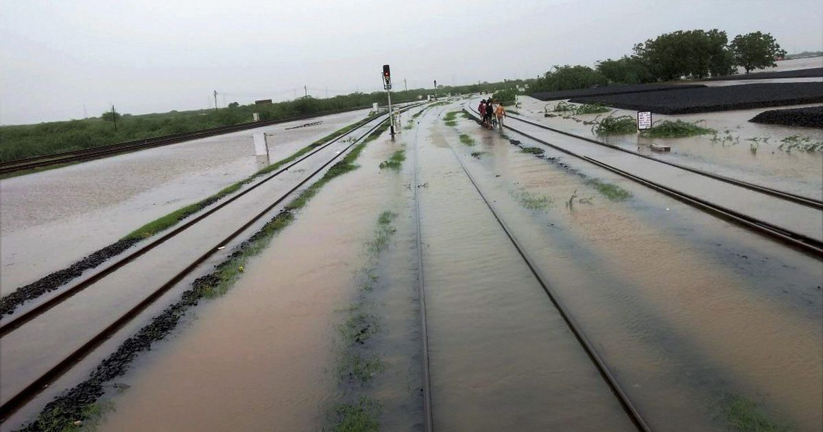 In photos: Torrential rainfall over the weekend has states trudging through water-logging