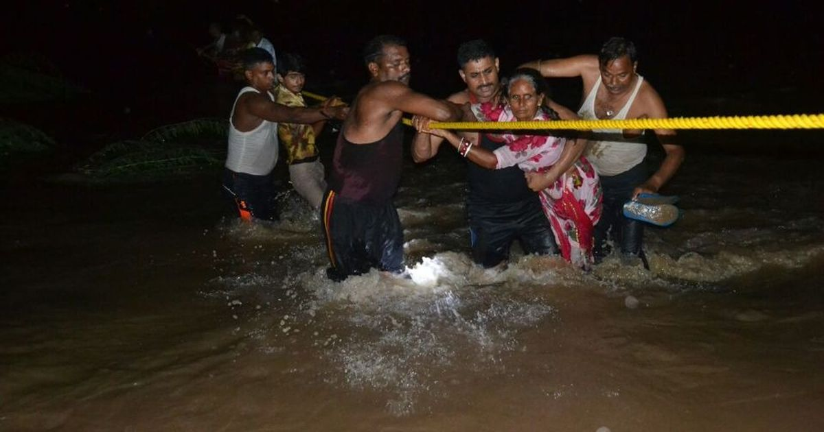 Air Force choppers carry out rescue operation in flood-hit regions of Gujarat and Rajasthan