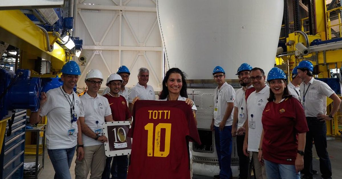 Thought Neymar's price tag is out of this world? Totti's Roma jersey is now literally in space