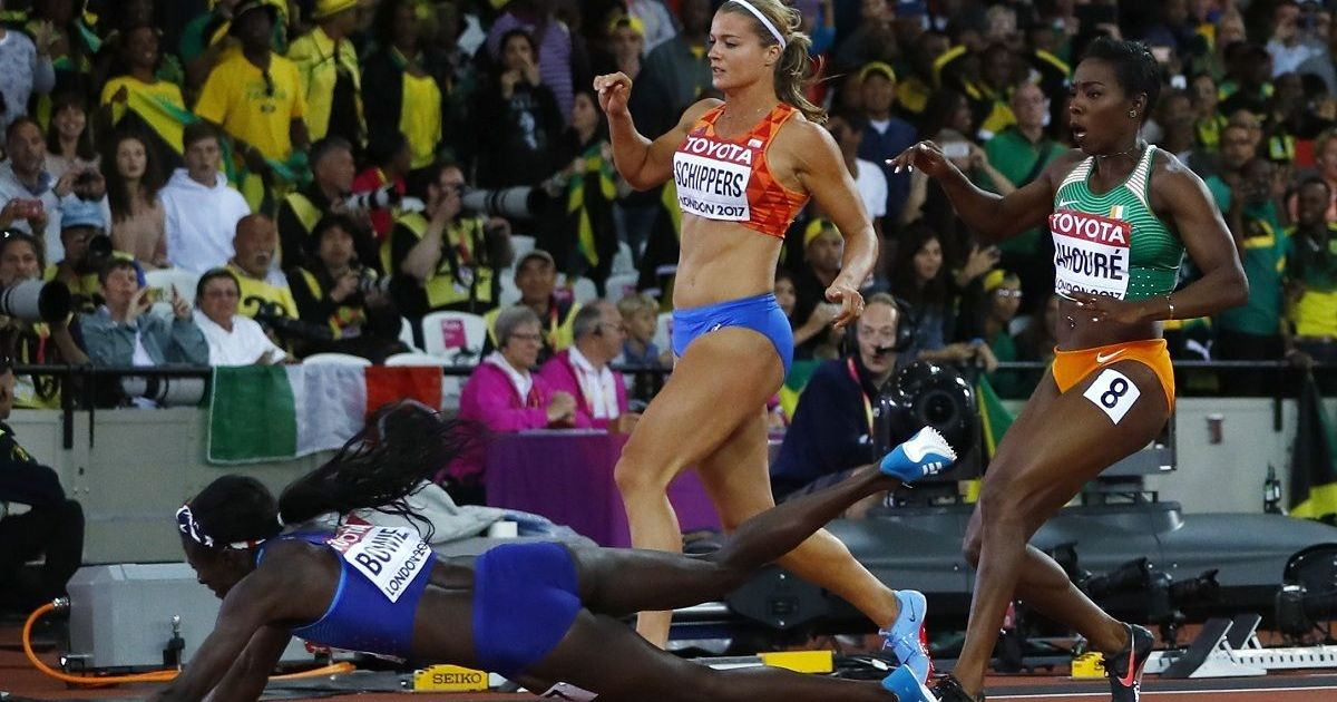USA's Torie Bowie dips to glory in 100 meters, Olympic champion Elaine Thompson finishes fifth