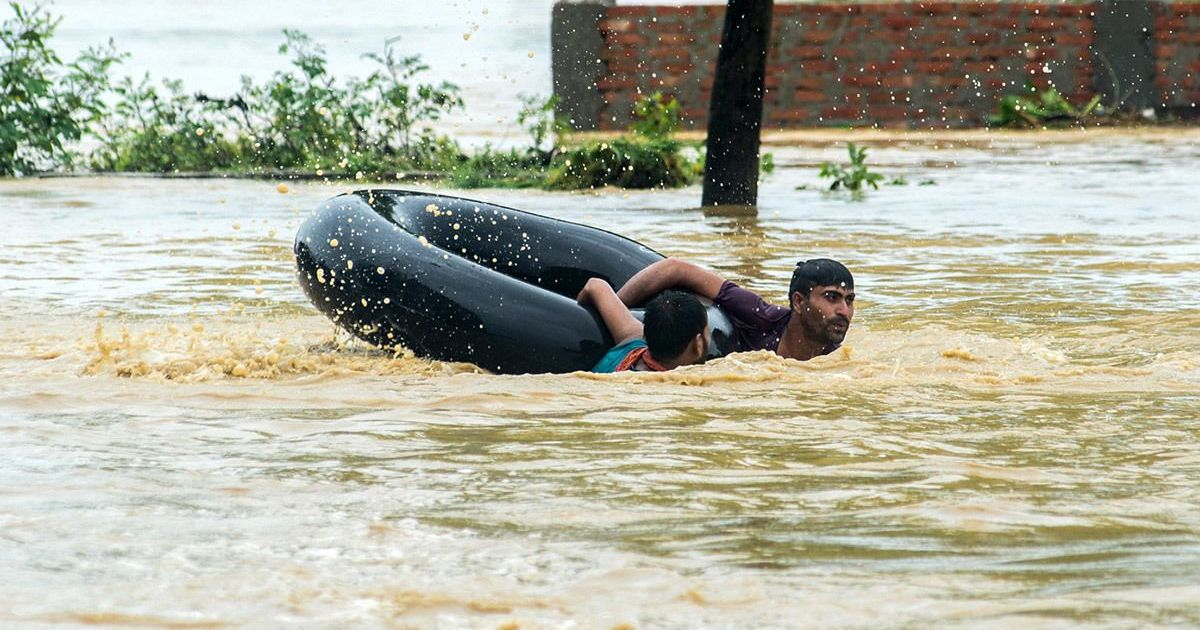 Photos: Homes, streets and shops go under water in a Nepal village after massive floods