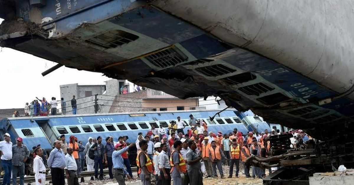 In 2016-'17, India's derailment deaths are  highest in a decade
