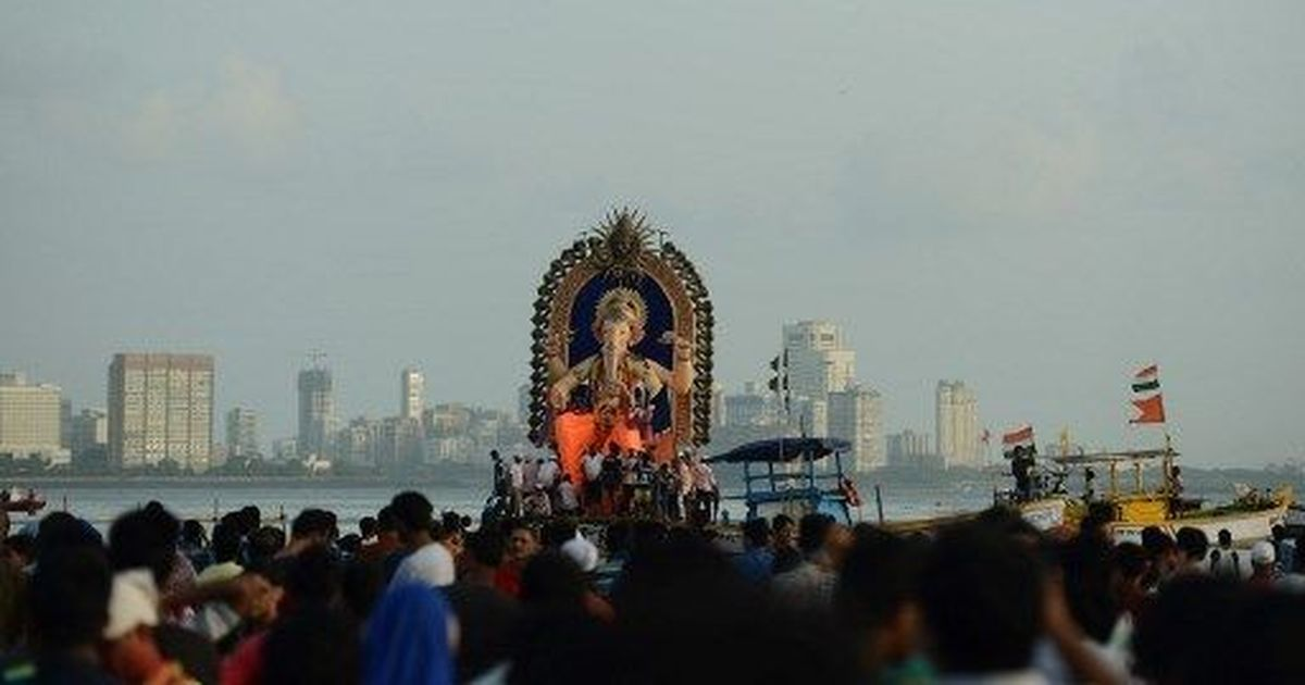 In photos: After 11 days of festivities, worshippers bid farewell to their Ganesh idols