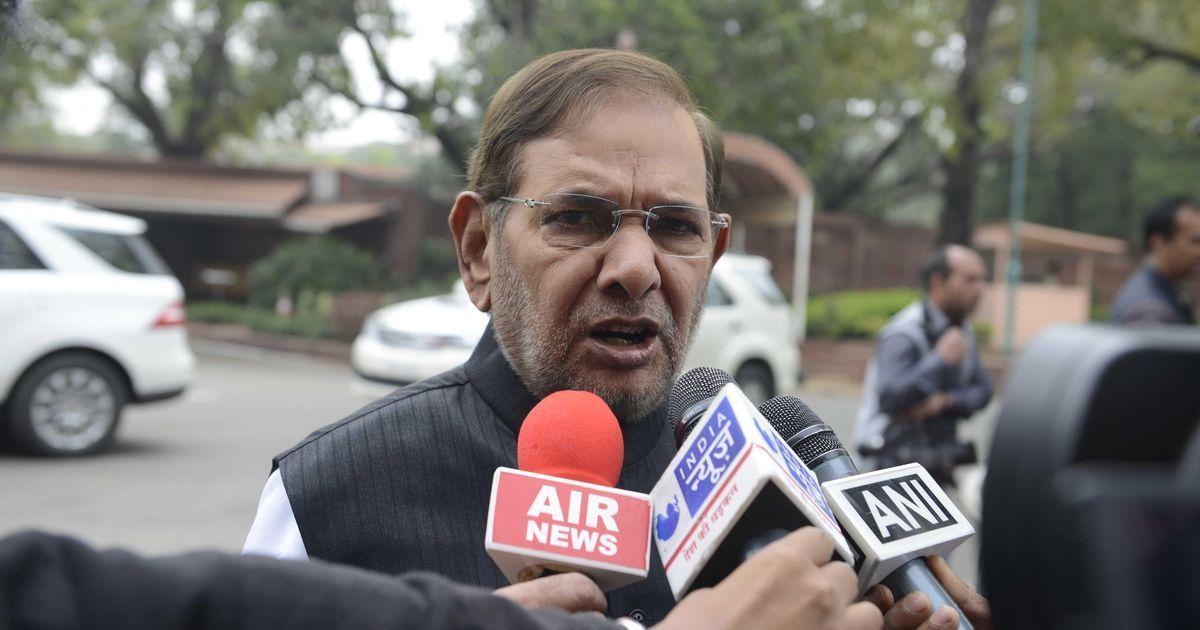 JD(U) petitions Vice President Venkaiah Naidu to disqualify Sharad Yadav