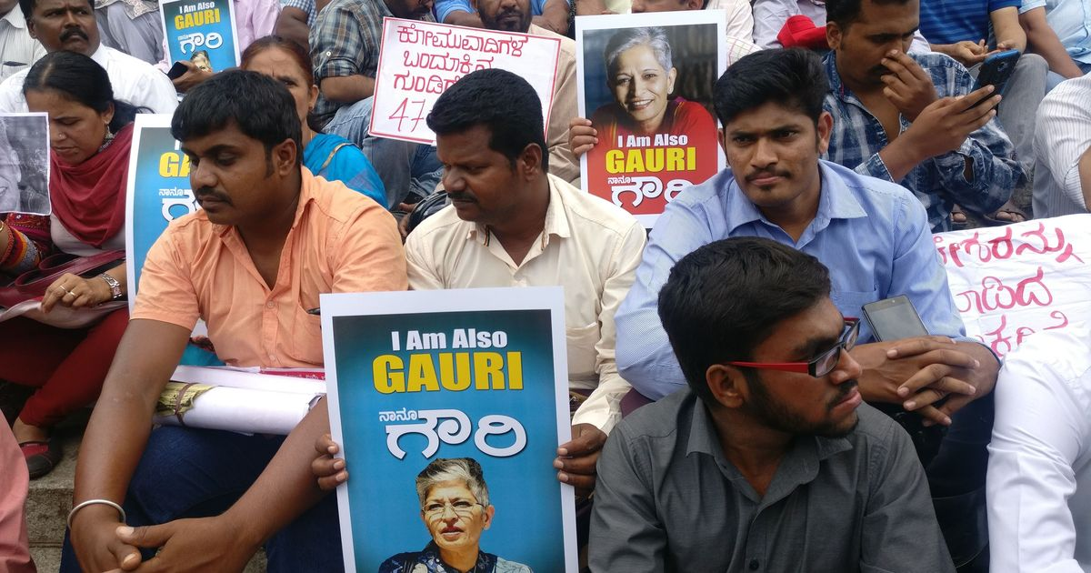 Why even people not familiar with Gauri Lankesh's work came out to protest in Bengaluru