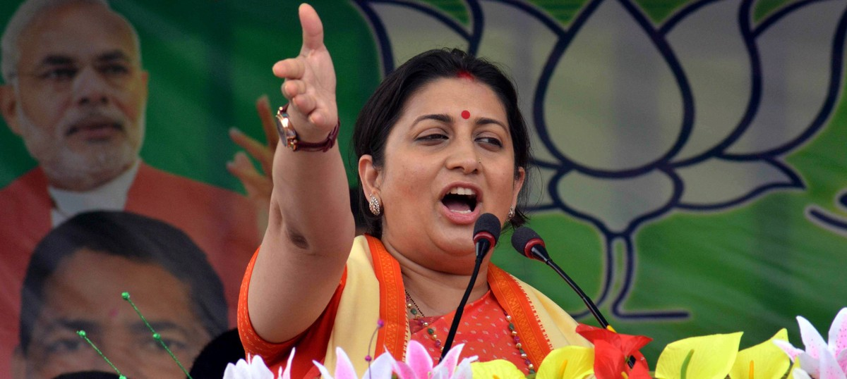 Watch: Smriti Irani calls Rahul Gandhi a 'failed dynast' after his comments at an event in the US
