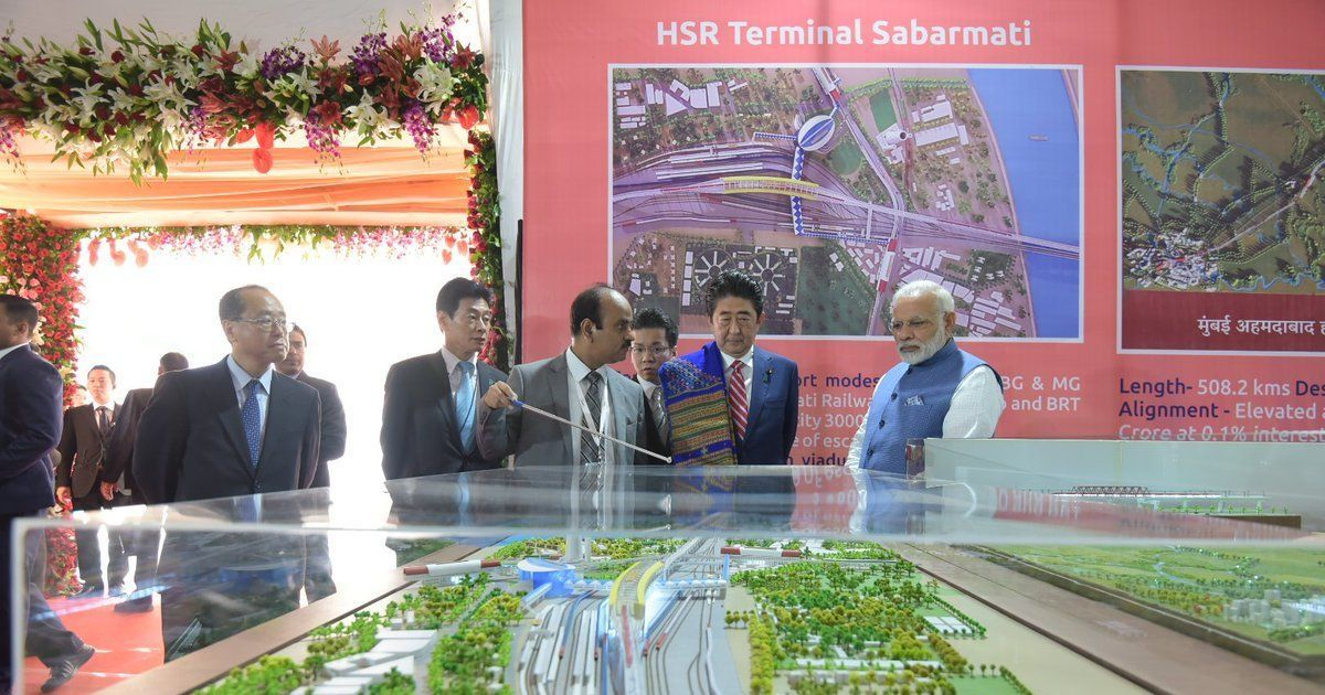 Narendra Modi, Shinzo Abe inaugurate India's first bullet train project in Ahmedabad