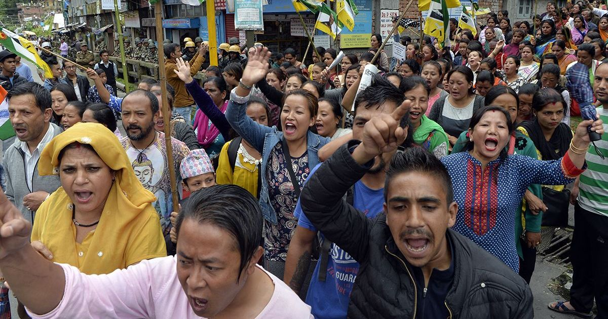 Darjeeling unrest: 12 GJM activists arrested for pelting stones at school bus, ransacking shops