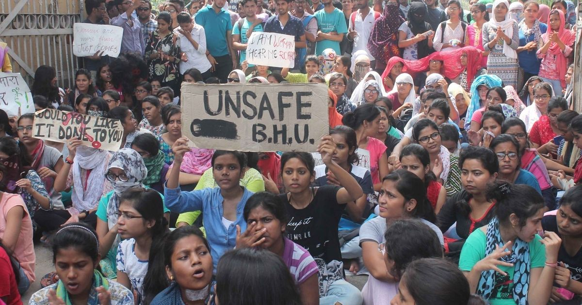 Banaras Hindu University vice chancellor says outsiders instigated the protests on campus