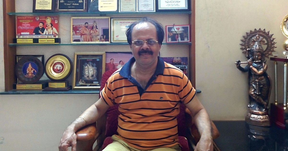 What gets Tamil audiences rolling in the aisles? Crazy Mohan knows