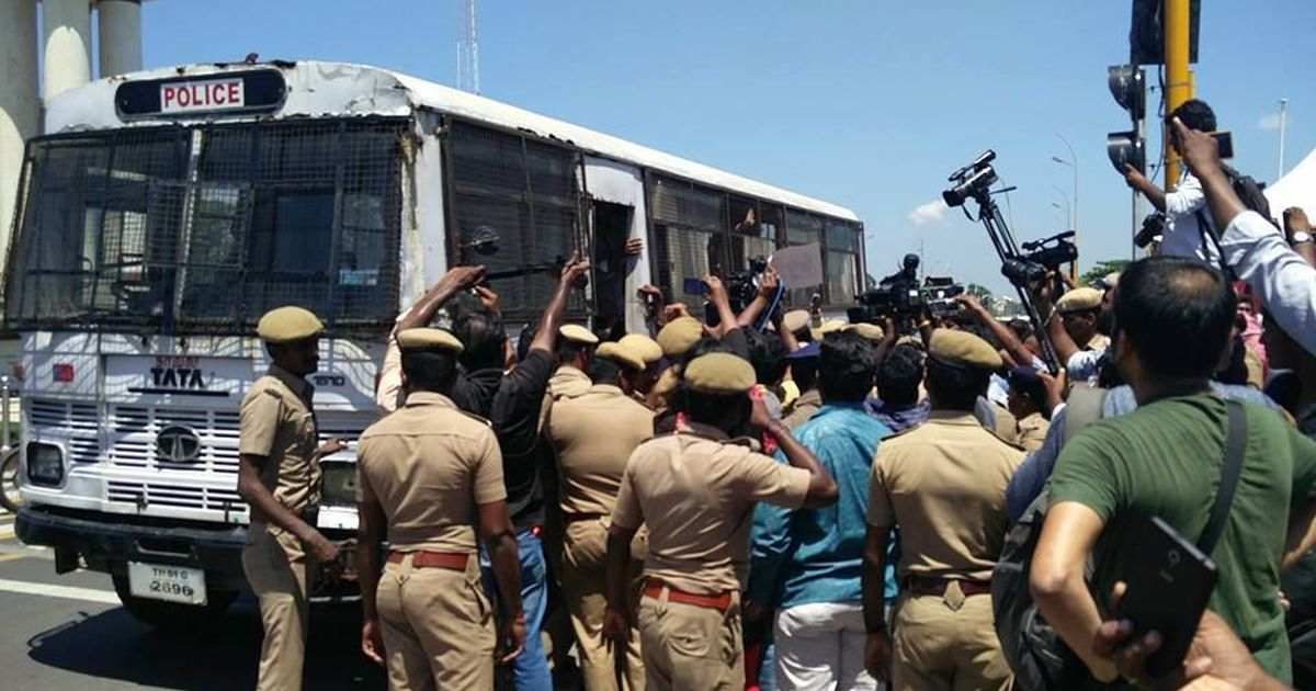 Chennai: Around 50 detained at Marina Beach during protest against Gauri Lankesh murder