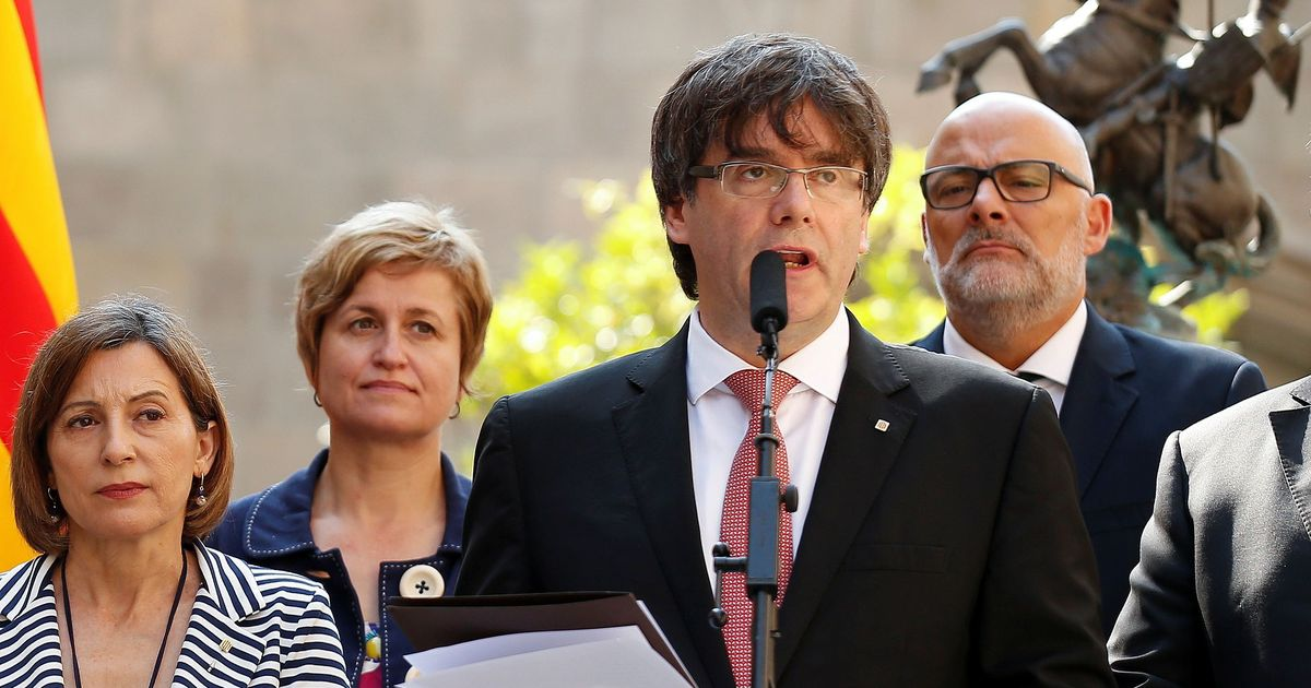 Catalonia signs and suspends declaration of independence from Spain, says it's time for dialogue