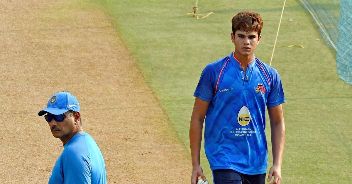 Sachin Tendulkar's son Arjun bowls at nets to India batsmen ahead of first New Zealand ODI