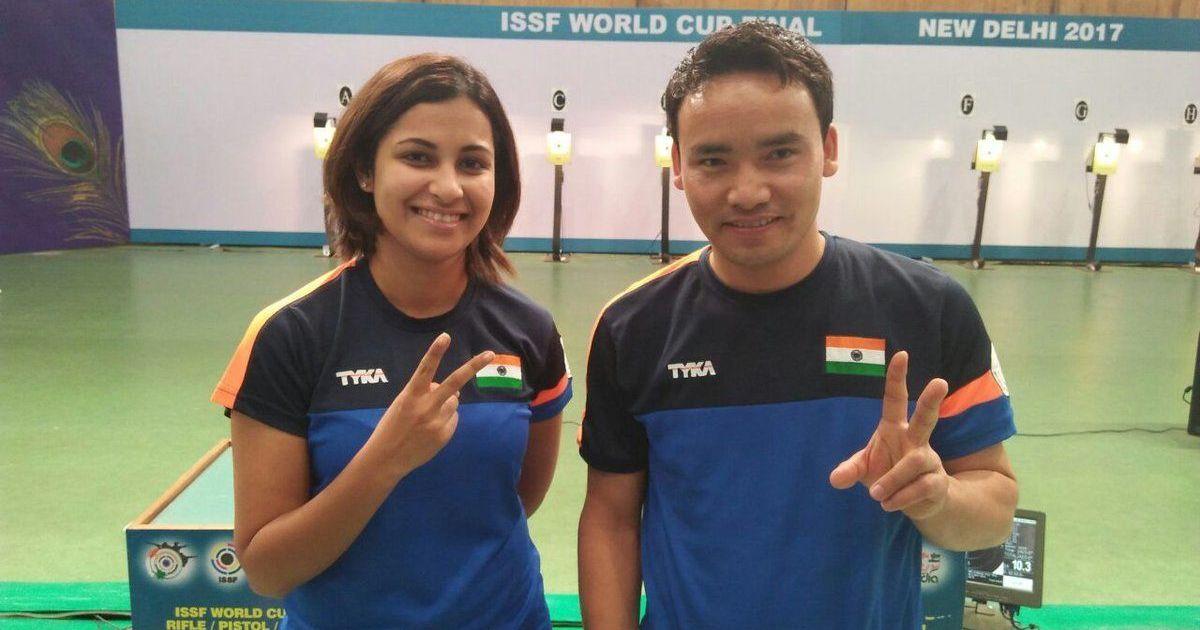 Jitu Rai and Heena Sidhu clinch gold in mixed-team event at ISSF World Cup Final