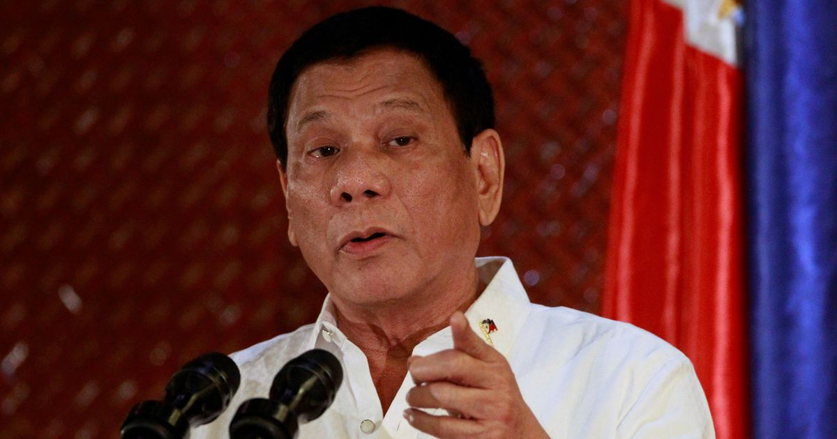 Philippines president says he stabbed a person when he was only 16