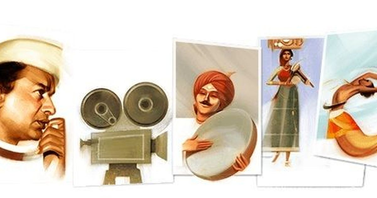 Google doodle honours V Shantaram on his 116th birth anniversary