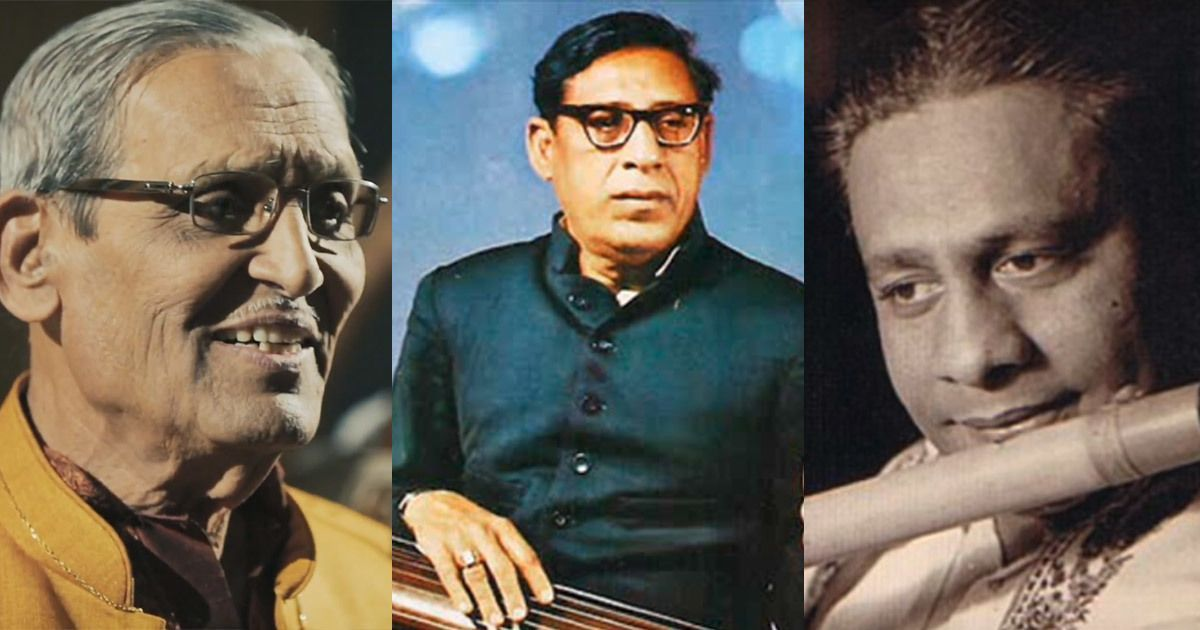 Listen: Diverse interpretations of the jhumra taal by Sharad Sathe, Amir Khan and Pannalal Ghosh