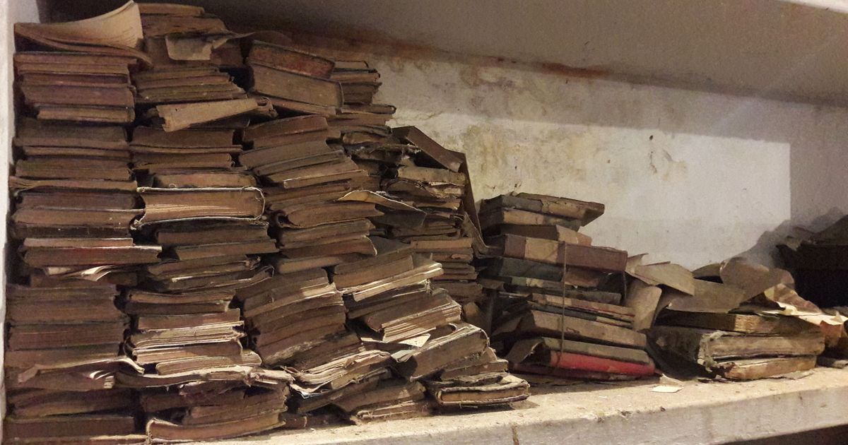 Welcome to the graveyard of rare books, also known as the Saulat Public Library, Rampur