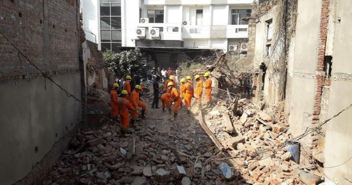 Delhi: Two die after decades-old building collapses in Taimur Nagar