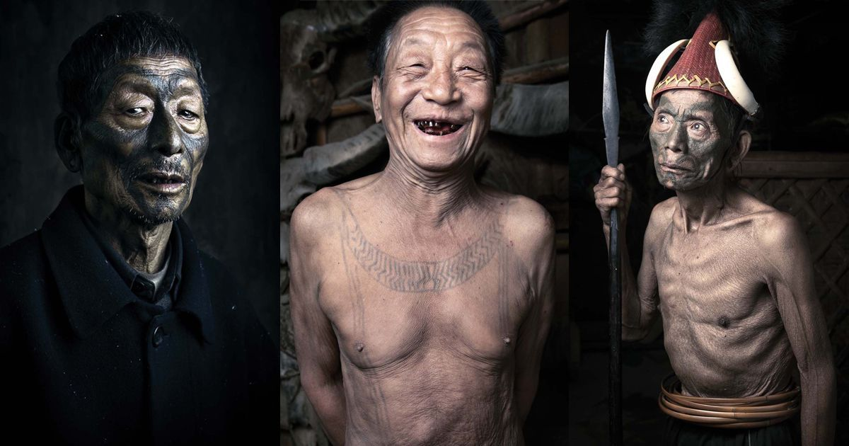 India's last tattooed headhunters: New book on Naga tribe captures remnants of a vanishing culture