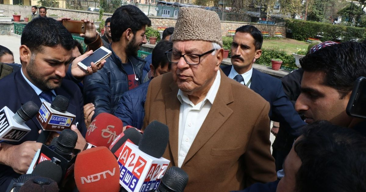 Hoist the national flag at Lal Chowk in Srinagar before you try in PoK, Farooq Abdullah tells Centre