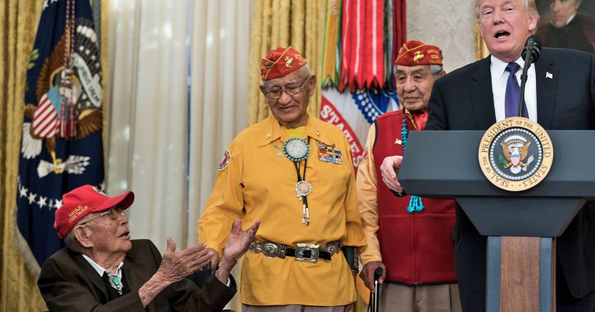 US: Donald Trump cracks 'Pocahontas' joke at event to honour World War II Native American veterans
