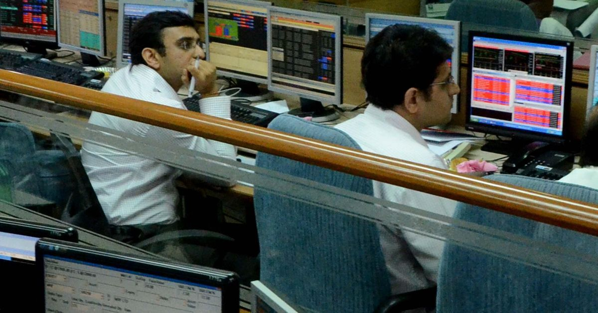 Sensex falls over 450 points, Nifty finishes at 10,222 ahead of release of GDP data