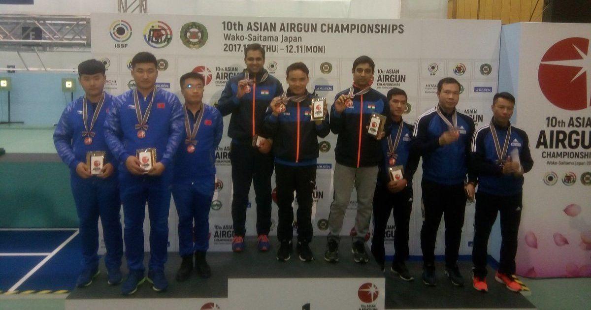 Asian Airgun Championship: Heena Sidhu, Jitu Rai, Anmol Jain shine as India win 6 medals