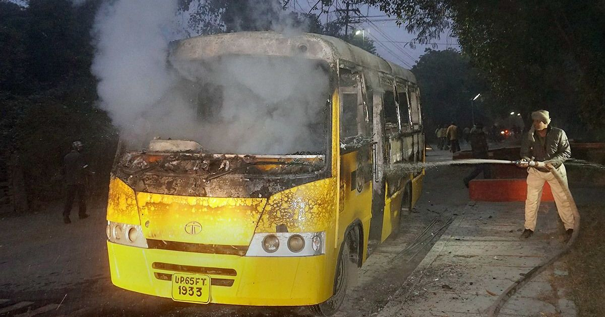UP: Protestors go on a rampage at Banaras Hindu University after police arrest a student leader