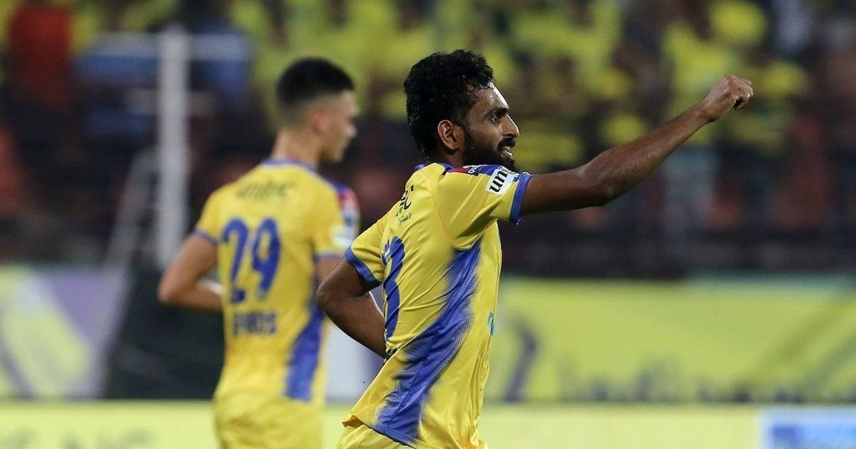 Isl Ck Vineeth S Stoppage Time Goal Clinches A Point For Kerala Blasters In Chennai